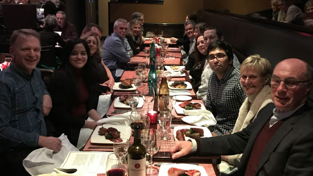 Dinner and theatre in Toronto with Part Time CFO Services team